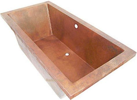 Drop In Bathtubs For Sale by Drop In Hammered Copper Bathtub