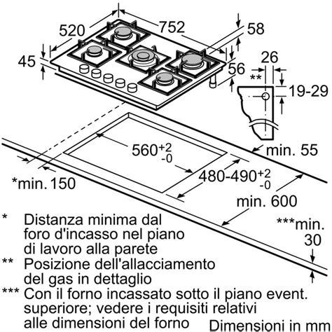piano cottura bianco bosch ppq7a2b20 piano cottura a gas 75 cm 5 fuochi vetro