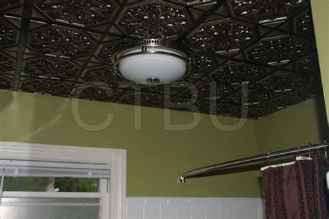 Ceiling Materials For Bathroom by Plastic Glue Up Drop In Decorative Ceiling Tiles