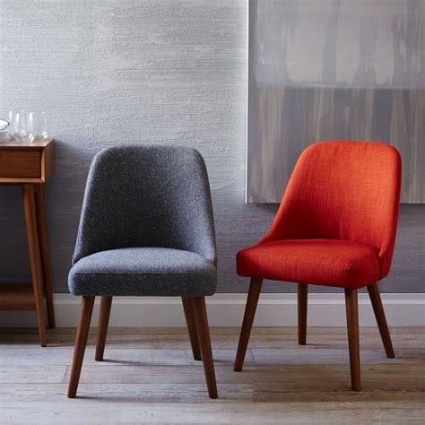 mid century upholstered dining chair west elm