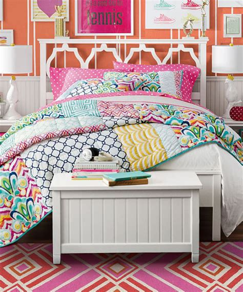 Teen Girls Bedding by Girls Patchwork Quilt Palm Springs Patchwork