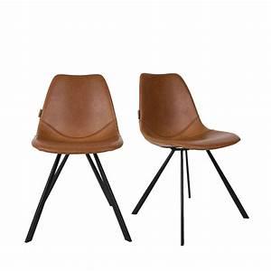 Chaise Vintage Cuir : lot de 2 chaises vintage franky drawer ~ Teatrodelosmanantiales.com Idées de Décoration