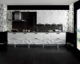 black and white kitchen backsplash gloss white kitchen black backsplash interior design ideas