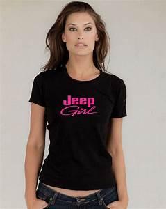 JEEP GIRL Black T Shirt BRAND NEW JUNIOR'S Neon Pink Vinyl ...