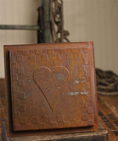vintage reproduction rusted dimensional ceiling tile