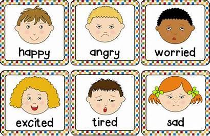 Cards Emotions Emotion Printable Clipart Preschool Emotional