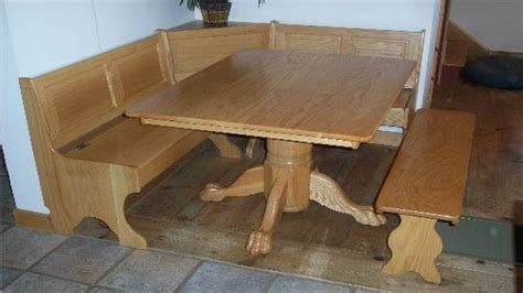 Storage Bench And Table by Wood Benches With Storage Corner Nook Kitchen Table With