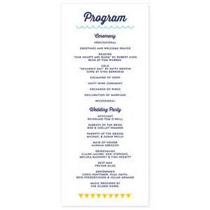 wedding reception program modern program crafty pie press