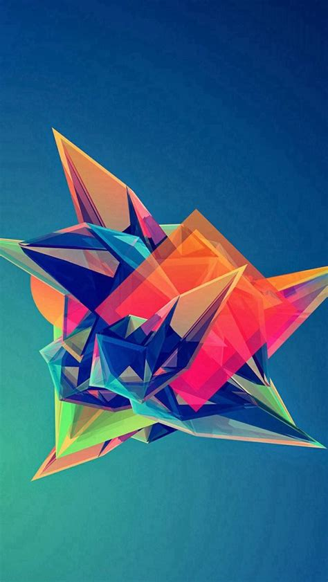 colorful cool abstract polygonal shape iphone 5s