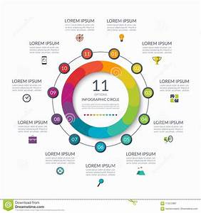 Infographic Circle  11 Options  Steps  Parts  Business