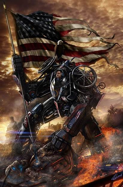 Badass American Ever Patriotic Presidential Portraits Thing