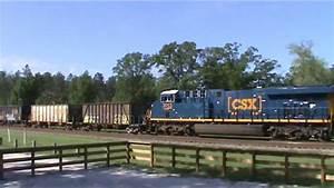 Csx Freight Trains In Folkston  Ga  Feat  A Ballast Train