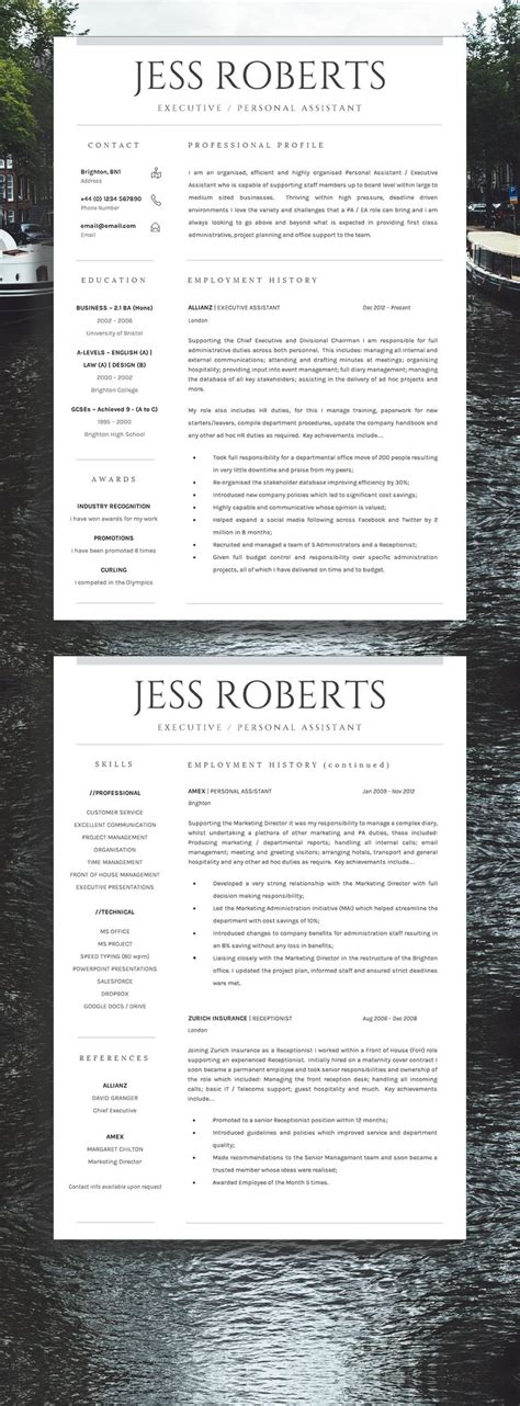 Professional Resume Ideas by Best 25 Cv Template Ideas On Layout Cv