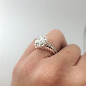 17 best images about rose gold engagement rings on With wedding band instead of engagement ring