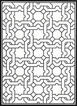 Coloring Pages Patterns Geometric Stained Glass Adult Dover Creative Publications Haven Mosaic Pattern Adults Printable Colouring Doverpublications Welcome Books Genius sketch template