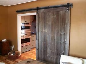 new rustic style sliding barn wood door wwwloftdoorscom With barnwood door ideas