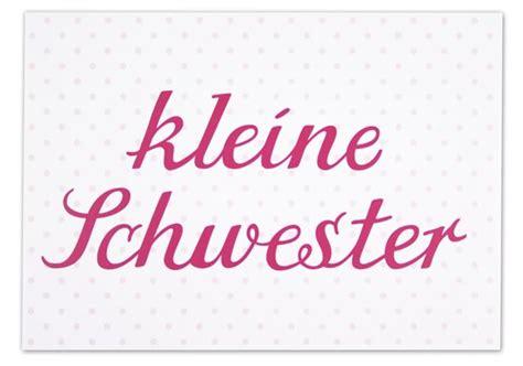 Krima & Isa  Postkarte kleine Schwester babyandfriends