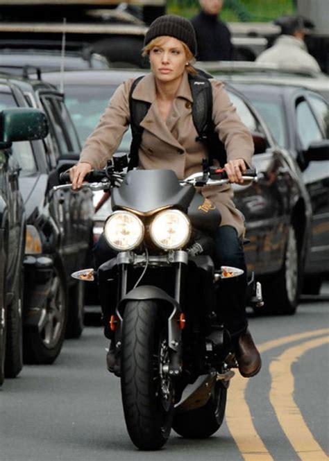 angelina jolie riding  triumph street triple  news top