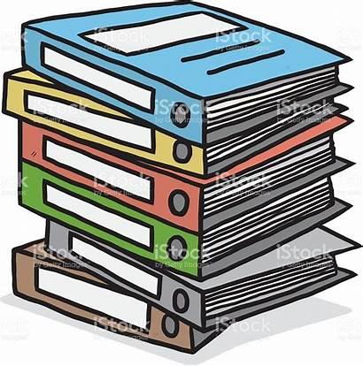 Document Pile Documents Clipart Business Illustration Vector