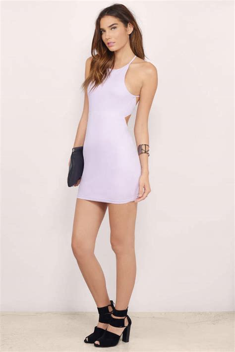 lavender bodycon dress strappy bodycon lavender cut out dress 11 tobi us