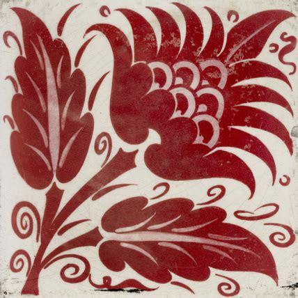 tile  stylised flower  william frend de morgan