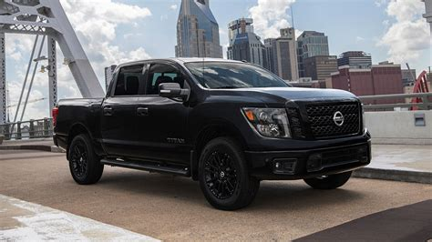 nissan armada midnight edition go dark with nissan titan midnight edition on black wheels