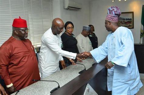photos 2019 ndic board visit to ogun state governor newscorner