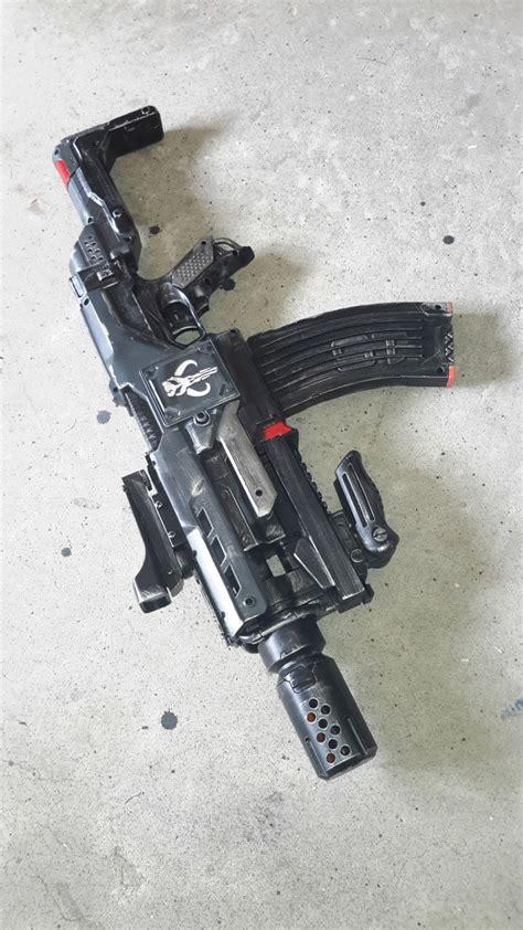 nerf guns modded painted custom weapons mod gray demolisher etsy gun sci fi modified cool glock mods ammo toys mandalorian