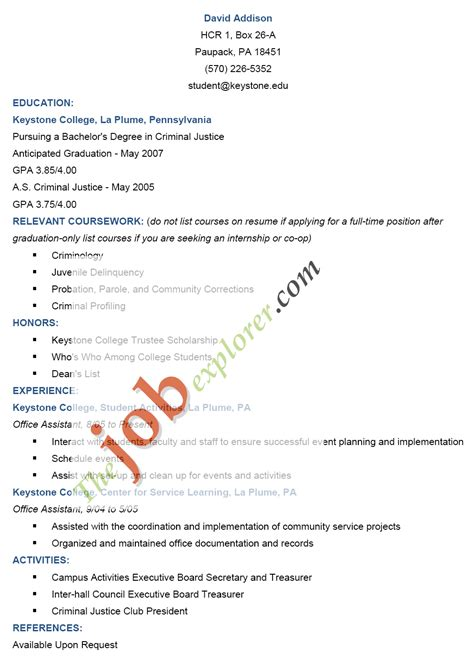 format of curriculum vitae cv in application letter