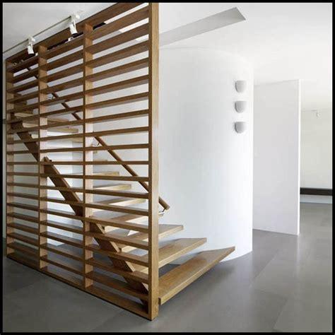 interior large horizontal railing wooden room divider