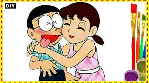 nobita  shizuka coloring pages doraemon  kids