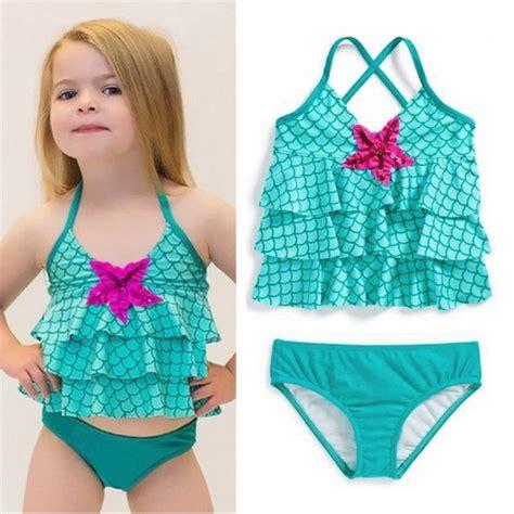 kids baby girls bikini swimwear swimsuit bathing suit