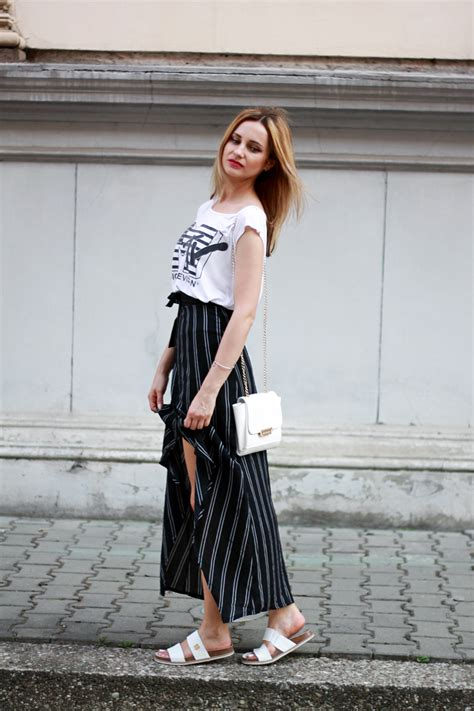 Street style white black casual stylish summer beauty tumblr girl lookbook look ootd fashion ...