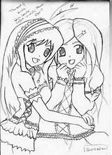 Coloring Friends Forever Friend Pages Printable Lineart Teenage Print Getcolorings Getdrawings Deviantart Colorings Popular Login sketch template