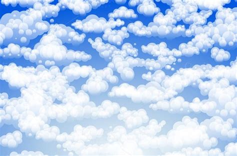 light clouds in a blue sky vector   Blue sky clouds, Sky and clouds, Clouds