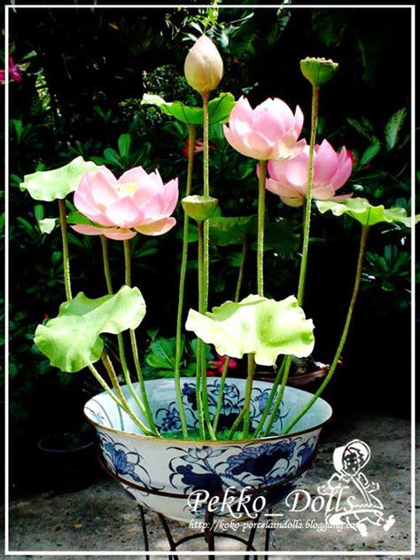 ดอกบัวหลวง ทำจากดินไทย Flower Clay : Lotus