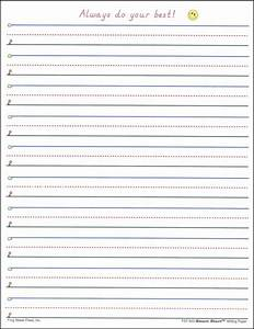 Smart start 1 2 writing paper 100 sheet pack 007405 for Learning to write paper template