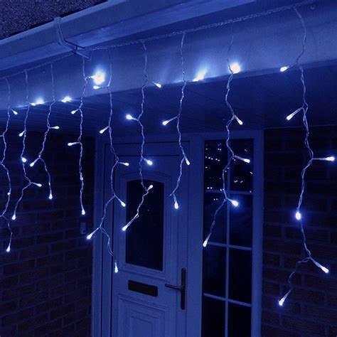 led icicle lights reviews 3 metre led icicle lights in blue connectable 120 led 39 s