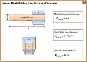 Trapezprisma Berechnen : prismen berechnen prisma volumen mantelfl che ~ Haus.voiturepedia.club Haus und Dekorationen