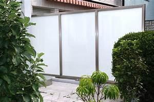 Edelstahl Sichtschutz Metall : sichtschutz aus edelstahl oder milchglas windschutz ~ Orissabook.com Haus und Dekorationen