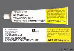 Nystatin/ Triamcinolone Acetonide 100000unit/ g-0.1% Topical Ointment Nystatin and Triamcinolone