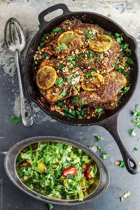 zaatar roasted chicken breast  mediterranean dish