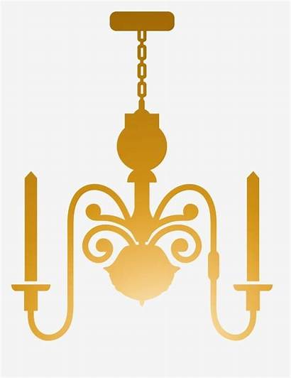 Chandelier Illustration Yellow Psd Clipart Pngtree