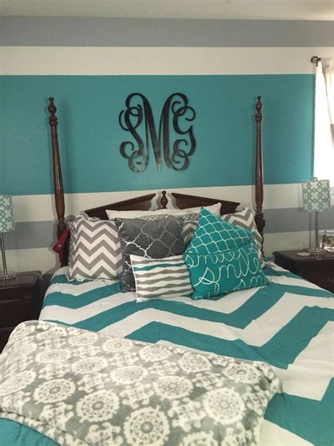 The master bedroom has a coffered ceiling and opens to the master bathroom. 21 Breathtaking Turquoise Bedroom Ideas - The WoW Style