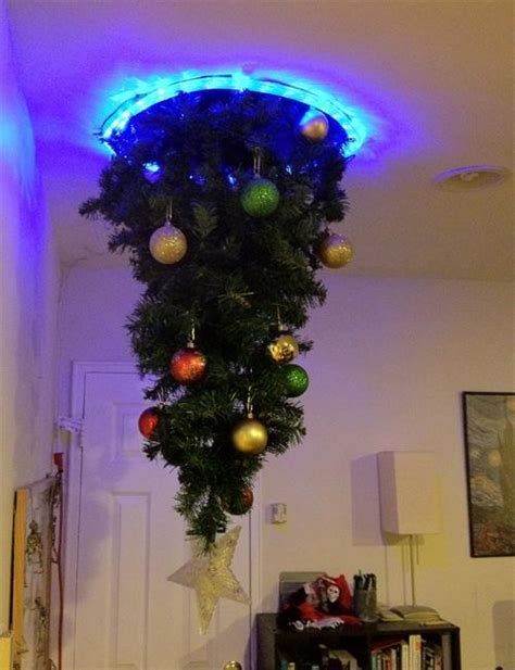hanging upside down christmas trees reinventing space saving medieval christmas decorating tradition