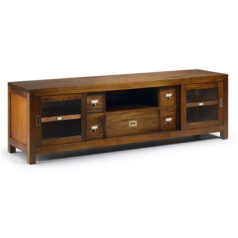 canapé bas design meuble tv en acajou massif salon à la déco coloniale