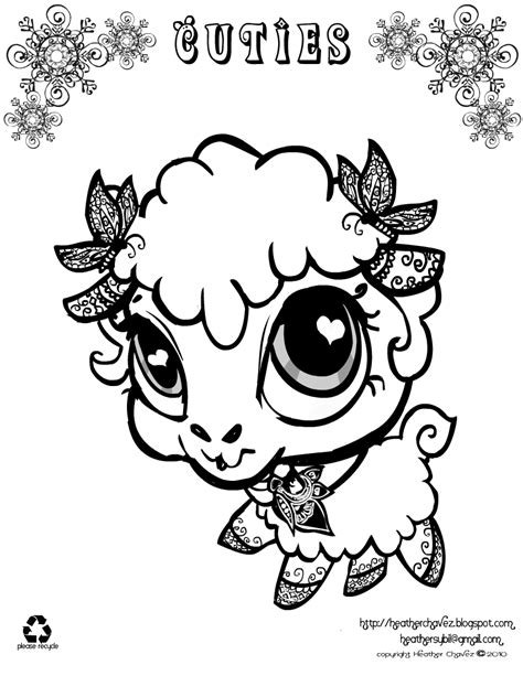 quirky artist loft cuties  animal coloring pages