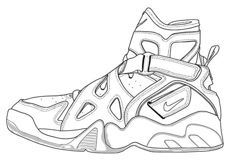 Coloring Nike Air 1 by Sketch Of Nike Air Ones Coloring Pages