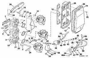 Johnson Intake Manifold Parts For 1997 50hp J50ttleur