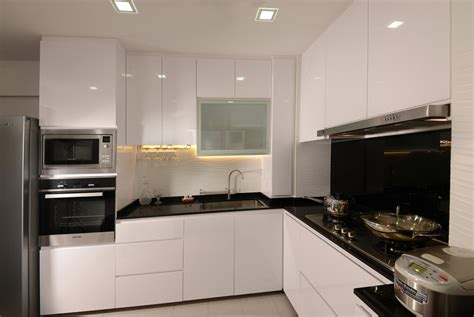 Kitchen Cabinets For Small Condo Black And White Contemporary 6 Home Renovation Singapore